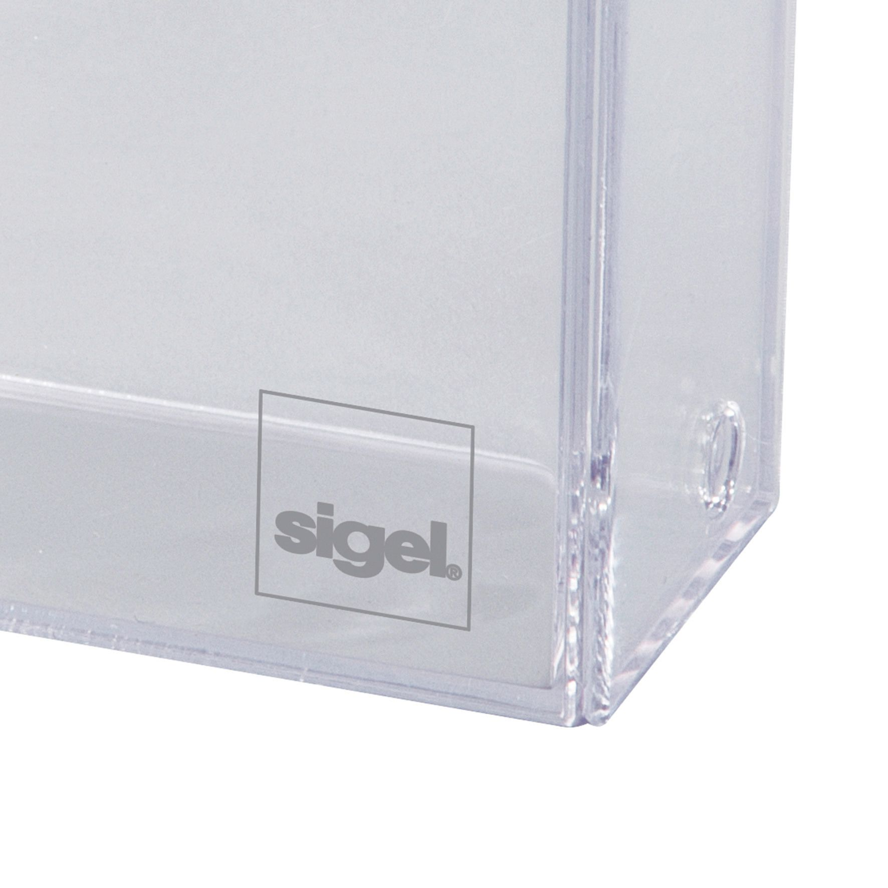 Sigel Visitenkarten Box Va110 Transp Für 100 Karten 86x55mm