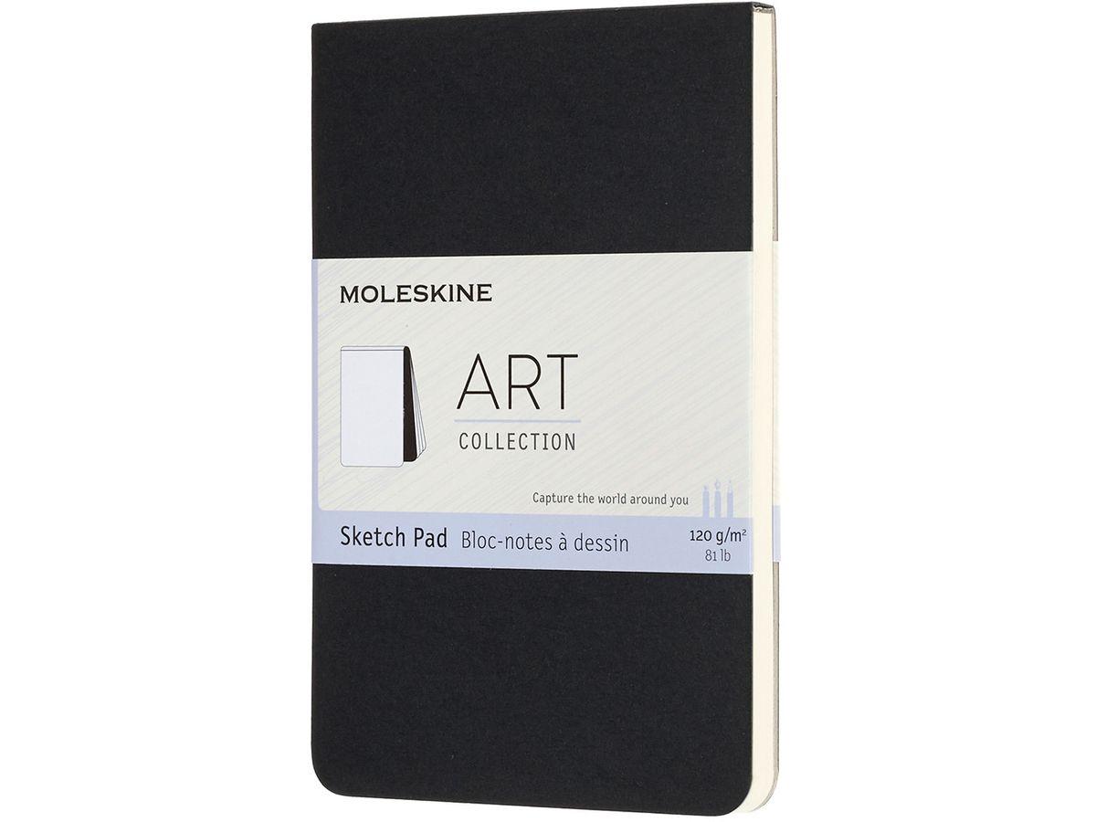 nero carta A4 copertina in cartone Blocco per schizzi 120 g Moleskine 8058647626857